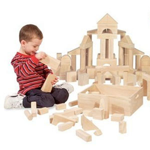 Melissa & Doug Wood Building Blocks, 60-pcs