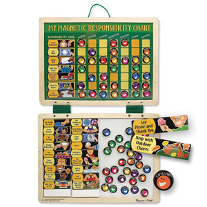 Melissa & Doug Deluxe Wooden Magnetic Responsibility Chart