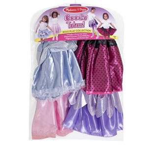 Melissa & Doug Role Play Collection - Goodie Tutus! Dress-Up Skirts Set (4 Costume Skirts)