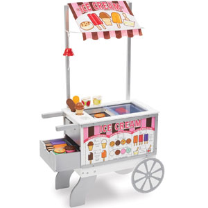 Melissa & Doug Wooden Snacks & Sweets Food Cart