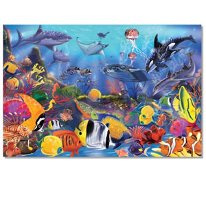 Melissa & Doug Underwater Ocean Floor Puzzle (48 Pieces), 2 x 3 feet