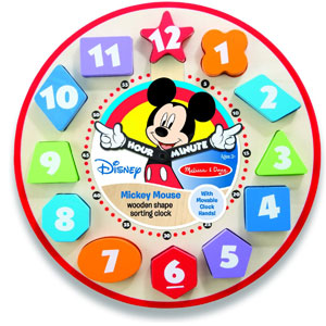 Melissa & Doug Disney Mickey Mouse Clock