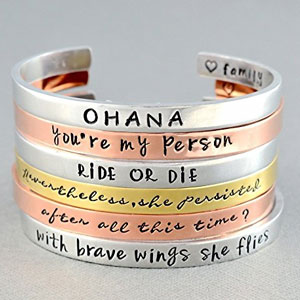 Customized Hand Stamped Cuff Bracelet