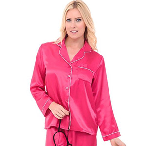 Del Rossa Womens Satin Pajamas