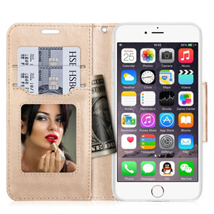 FYY Wallet iPhone 7 Case With Cosmetic Mirror