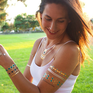 New Home Innovations Metallic Temporary Flash Tattoos