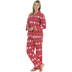 PajamaMania Flannel Long Sleeve Pajama Set