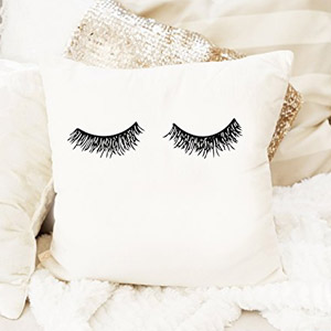 Sweet Water Décor Eyelashes Pillow
