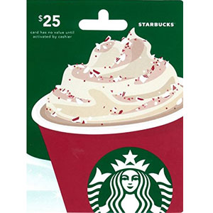 Starbucks Holiday Gift Card