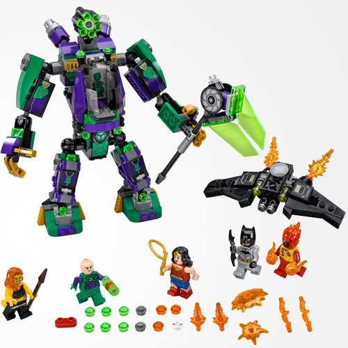 LEGO DC Comics Super Heroes Lex Luther Mech Takedown 76097