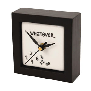 "Enesco 4-inch ""Whatever"" Desk Clock"