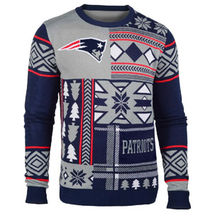 NFL Patches Ugly Sweater