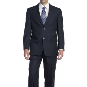 P&L Men's Navy 2 Button Suit