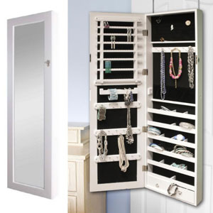 BTExpert Jewelry Armoire Wall Mount Cabinet