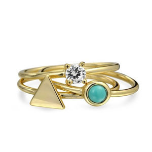 Bling Jewelry Sterling Silver Midi Ring Set