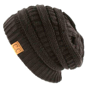 C.C. Cable Knit Slouchy Beanie