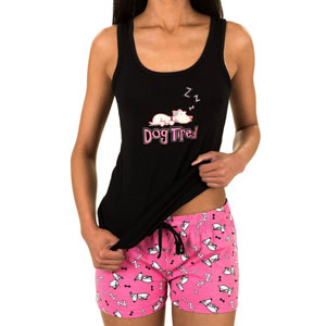 Caramel Cantina Tank and Shorts PJ Set