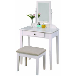 Crown Mark Iris Vanity Table With Stool