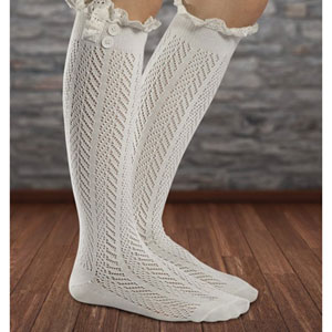 Fiorelle Knee High Crochet Socks