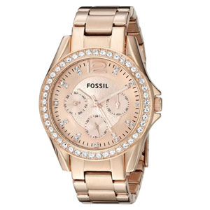 Fossil Riley Rose Gold-Tone Watch