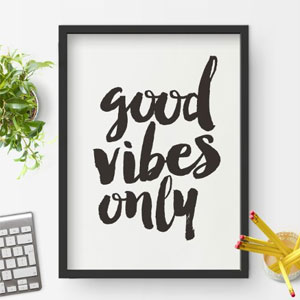 Good Vibes Only Wall Decor