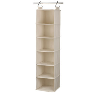 Household Essentials 6-Shelf Hanging Closet Organizer