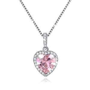 BSTONE Heart Birthstone Necklace