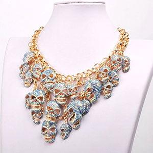 Jane Stone Skeleton Choker Necklace