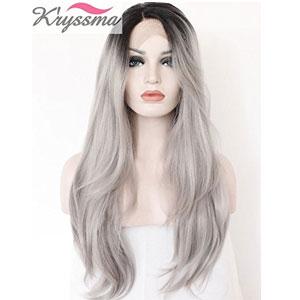 K'ryssma Ombre Gray Wig Dark