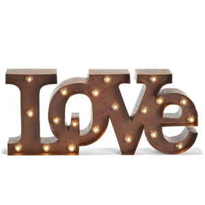 LampLust Vintage Marquee Love Symbol Light