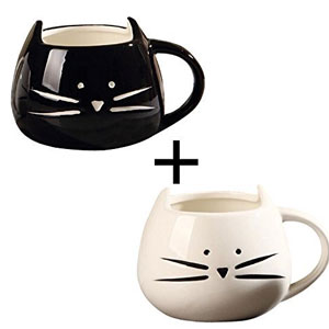 Morning Coffee Cat Mugs
