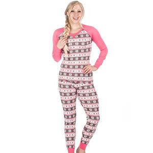 Noble Mount Womens Knit Striped Pajamas