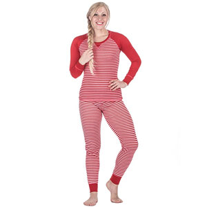 Noble Mount Women's Knit Striped Pajamas