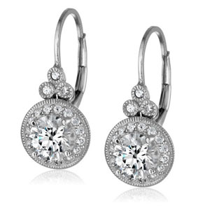 Swarovski Zirconia Round Drop Earrings