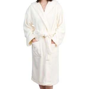 TowelSelections Hooded Plush Bathrobe