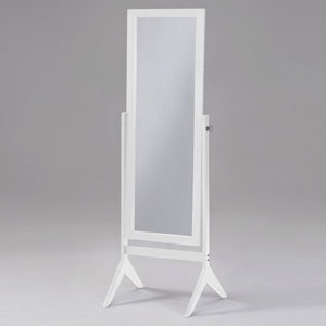 White Cheval Free Standing Floor Mirror