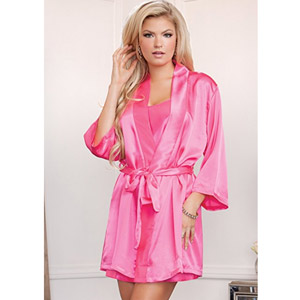 iCollection Womens Satin Robe