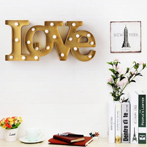 BRIGHT ZEAL LED Marquee Love