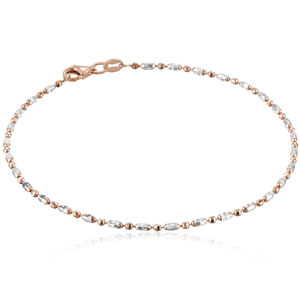 Italian Rose-Tone Chain Anklet