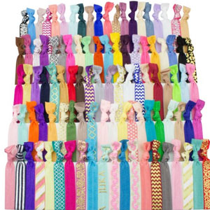 JLIKA Elastic Hair Ties (SET OF 100)