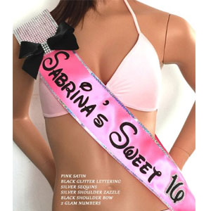 SashANation Custom Sweet 16 Sash