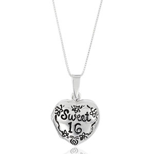 Sweet 16 Heart Locket Necklace