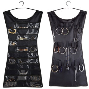 Umbra Black Dress Hanging Jewelry Organizer