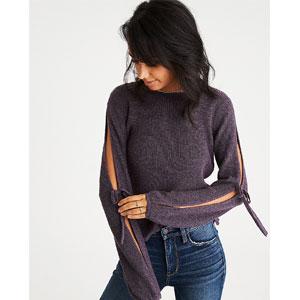 AEO Open Tie-Sleeve Sweater