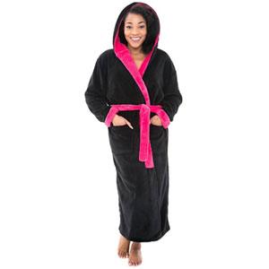 Alexander Del Rossa Womens Fleece Robe