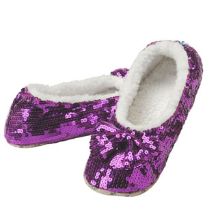 Snozzie Bling Sequin Metallic Slippers