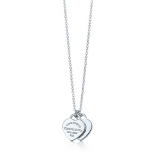 Tiffanys Mini Double Heart Tag Pendant