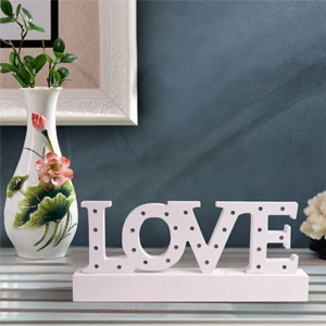 BRIGHT ZEAL Decorative LOVE LED Light