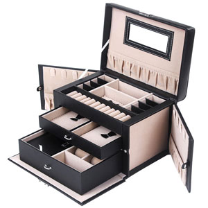 Songmics Jewelry Box With Mirror