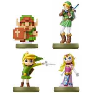 Classic Zelda Amiibo figures: Ocarina, 8 bit, Toon Link